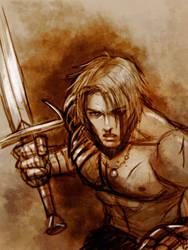 Warrior Sketch by Protokitty