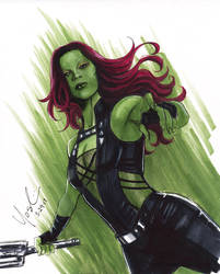 Gamora Zoe Saldana by Protokitty