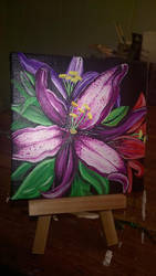 Purple Lilies by kissfan85