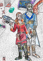 Hester Shaw and Shrike 40K by Chinesegal