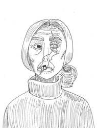 Inktober day 5: Natsworthy's widow by Chinesegal