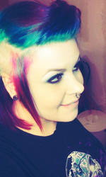Crazy dyed hair by CannibalSativa