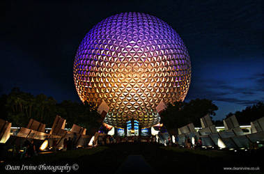 Spaceship earth by night by Dean-Irvine