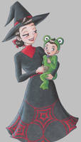 halloween frannie and lil'wil by chalicity