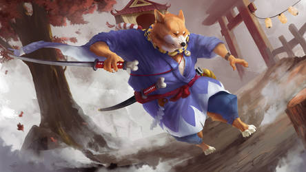 Onmyoji Fan Art Contest - Inugami by Kityria