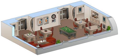 USS Saratoga - Recreation room by bobye2
