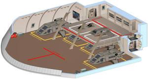 USS Saratoga - Shuttle bay by bobye2