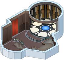 USS Triton - Transporter Room by bobye2
