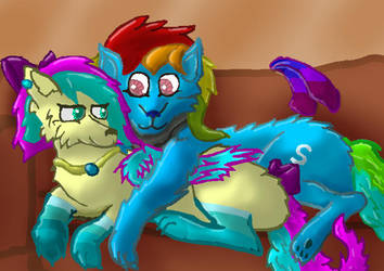 Skittz and Cupcake OCs by Torpy-Ponius