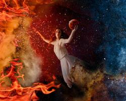 Space goddess by drksnt