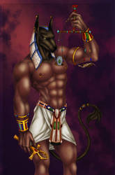 Anubis colored by alexasrosa