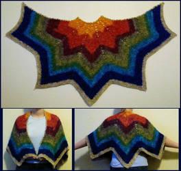 Recycled silk shawl, done by flufdrax