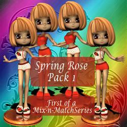 Spring Rose - Pack 1 Promo by Arialgr