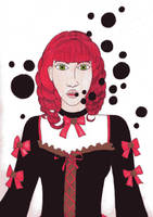 Gothic Lolita black bubbles by Loreolei