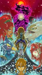 Legend of zelda , Champions of Hyrule by Chopper-Tony