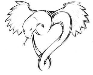 Tattoo Design: Winged Serpent by GtGW
