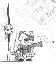 Adelanto: Osito Sombie Slayer by ArnaT