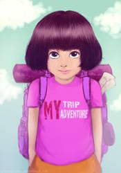 Dora the explorer by greenXgolden