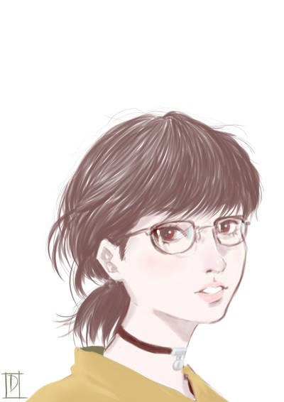 glasses girl by greenXgolden