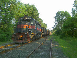 freight train in Northampton MA by caspercrafts