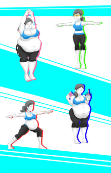Wii're not fit by NasuOkaa-san