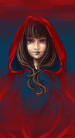 Little Red in dark blue by sscindyss
