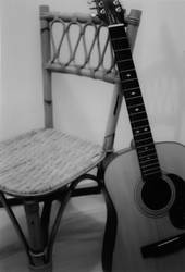 Chair and Guitar by Nicerella