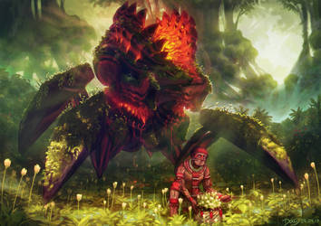 Nhanduata the Ancient Guardian of the Gardens by Astral-Requin