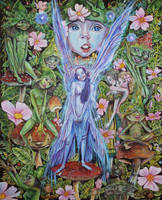 The faerie who was kissed by pixies  2 by ElfinIllustrator