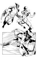 Scarlet Spider #17 p. 18 by WaldenWong