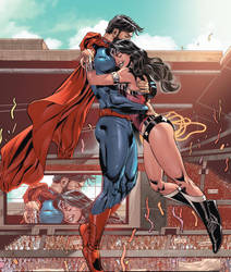 Superman Wonder Woman by WaldenWong