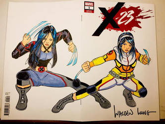 X-23 and Gabriella Sketch Cover by WaldenWong