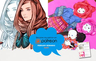 Patreon FEBRUARY Rewards by KarmaLizzard