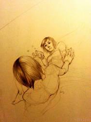 Sketch - Mistborn's Vin by maddein