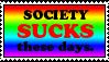 Society Sucks Stamp by caramel-dixon