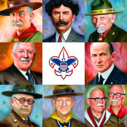 Boy Scout Founders by carts