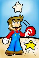Mario Galaxy: You Got a Star by LizDraws