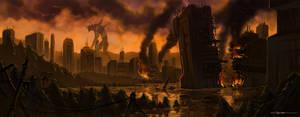 Evangelion: EVA city walk by sanggene