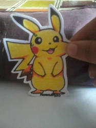 Paper child Pikachu by MaroonAbyss