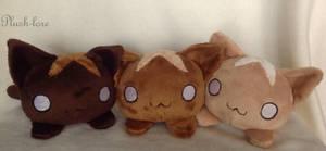 Cat buns by Plush-Lore