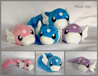 Dratini Plush by Plush-Lore