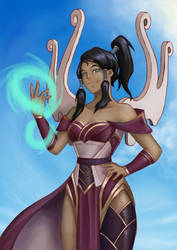 The legend of Karma / Korra the Enlighted One by ikiyia