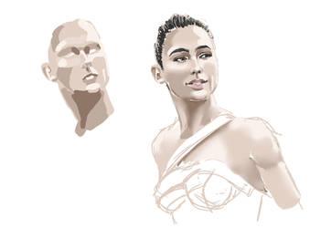 Wonder Woman Amazone practice by ikiyia