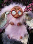 Polymer Clay Creature - Rabbit/Kangaroo - Faux Fur by Orang3Marmalade