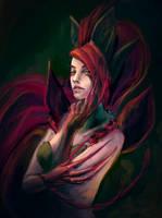 Mystery Zyra, Legaue of Legends speedpaint by LenamoArt