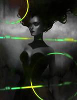 Black and green by LenamoArt