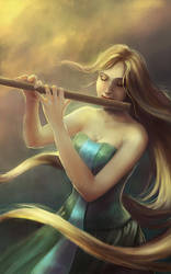 Commission: Pianissimo (The Silent Note Book 2) by LenamoArt