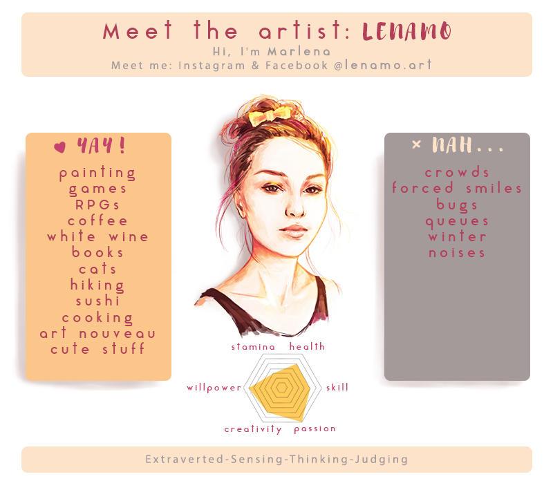 Meet The Artist Meme by LenamoArt