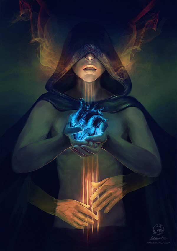 Commission: Cello spell by LenamoArt