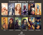 2017 Summary of Art by LenamoArt